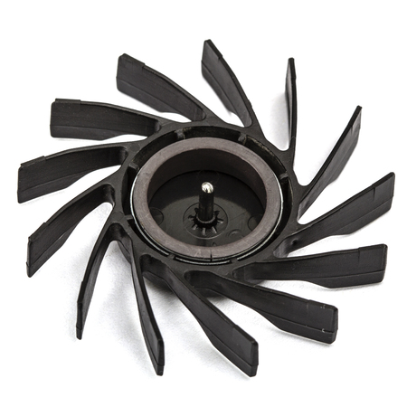 impeller: Propellers of  fan, isolated on white background Stock Photo