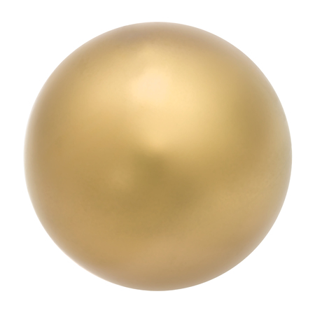 golden ball: Golden sphere, abstract decoration, isolated on white background Stock Photo