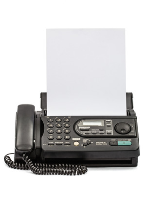 ドキュメントは、白い背景で隔離のファックス