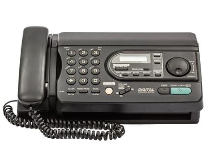 Fax auf weißem Hintergrund Standard-Bild