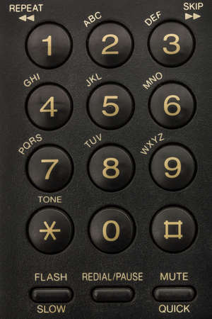 dial pad: Buttons of phone keypad close-up
