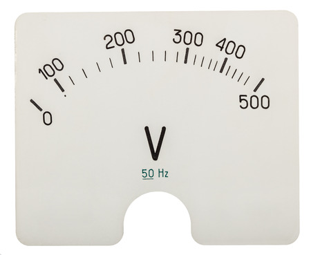 voltmeter: Scale of voltmeter, isolated on white background Stock Photo