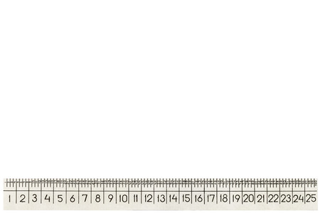 empirical: Metal ruler for zooming, isolated on white background