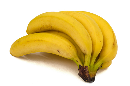 flesh colour: Bunch of bananas, isolated on white background Stock Photo