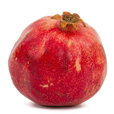 Ripe pomegranate, isolated on white background
