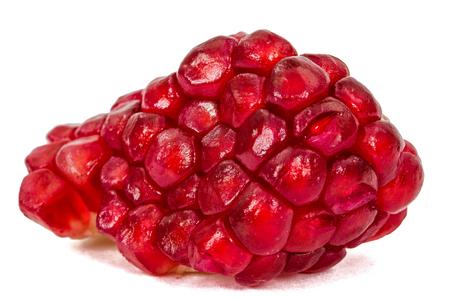 cantle: Ripe pomegranate seeds, isolated on white background Stock Photo