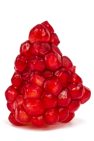 cantle: Ripe pomegranate seeds, isolated on white background Stock Photo