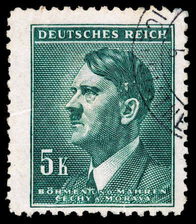 GERMAN REICH. Circa 1939 - c.1944: A postage stamp with portraying of Adolf Hitler Editorial