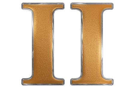 Roman cijfer II, duo, 2, twee, geïsoleerd op witte 3d achtergrond, geeft terug Stockfoto
