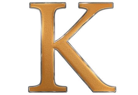 Uppercase letter K, isolated on white, 3D illustration Stock Photo