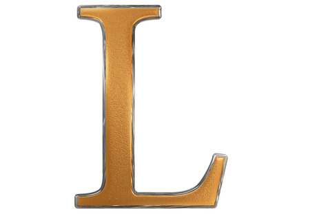 Uppercase letter L, isolated on white, 3D illustration Stock Photo