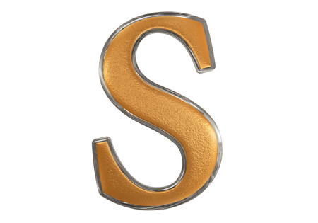 Lowercase letter S, isolated on white, with clipping path, 3D illustration