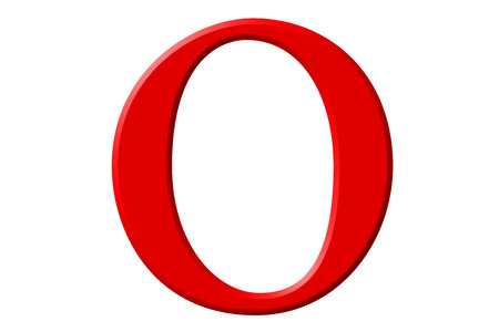 Lowercase letter O, isolated on white, with clipping path, 3D illustration