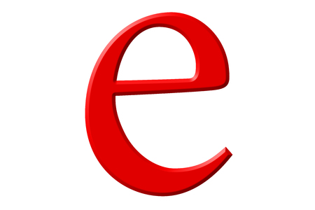 Lowercase letter , isolated on white, with clipping path, 3D illustration