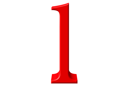 Lowercase letter L, isolated on white, with clipping path, 3D illustration
