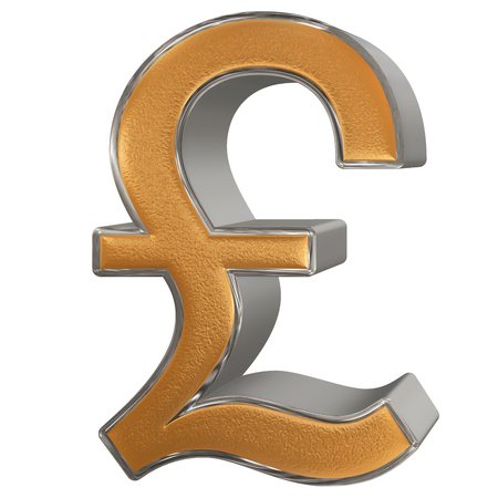 Symbol Of British Pound Sterling Isolated On White Background