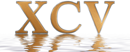 El Número Romano Xxxv Quinque Et Triginta 35 Treinta Y Cinco