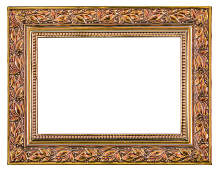 mirror frame: Metal frame isolated on a white background Stock Photo