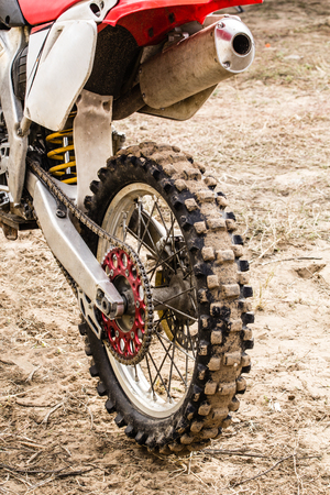 motobike: Rear wheel of a sports motorcycle close-up