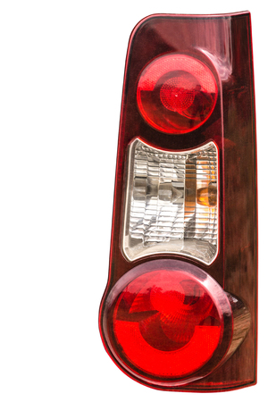 prestigious: Taillight on a modern prestigious car, isolated on white background, with clipping path
