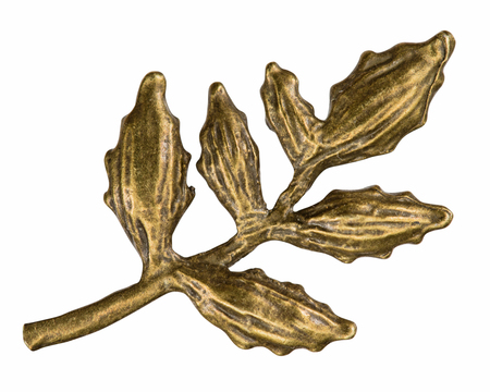 Filigree in the form of a branch of plant , decorative element for manual work, isolated on white, with clipping path