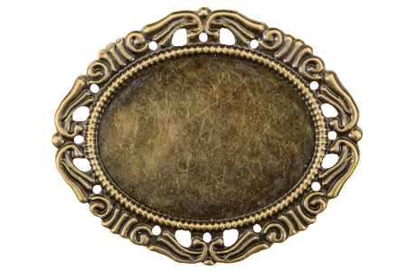 Filigree in the form of a frame, decorative element for manual work, isolated on white, with clipping path Stock Photo
