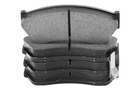 Automotive brake pads, Isolated on white background