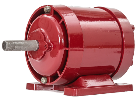 Electric motor isolated on a white background Stock Photo