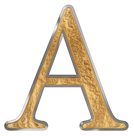 Uppercase letter A, isolated on white, 3D render
