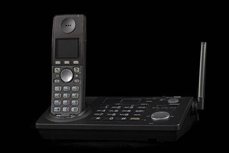 Wireless phone, isolated on black background 免版税图像