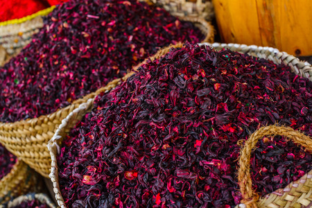Roselle tea for sale in a store in Egypt