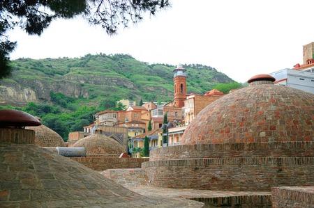 Buitenkant van openbaar bad in Tbilisi, Georgië Stockfoto - 29289191