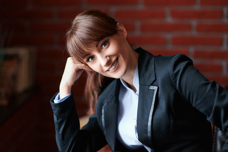 Portrait of smiling  business woman photo