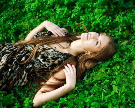 16 year old girls: Close-up portrait of a beautiful young girl with makeup outdoors Stock Photo