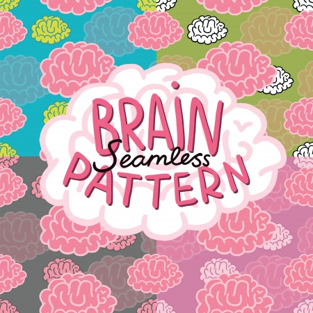 Cartoon doodle brain seamless pattern. Seamless pattern can be used for wallpaper, pattern fills, web page background, surface textures. Stock Vector - 22468971