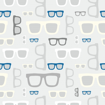 Hipster sun glasses seamless pattern vector background Vector