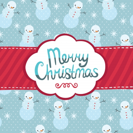 Merry Christmas greeting card background. Holiday vector illustration Vector
