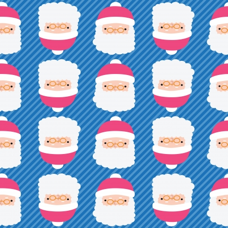 Christmas Santa Claus seamless pattern background. holiday baclground Vector