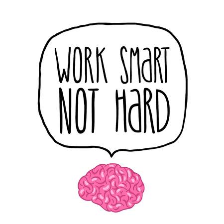 kemény: dolgoznia, nem nehéz az agy illusztráció Illusztráció