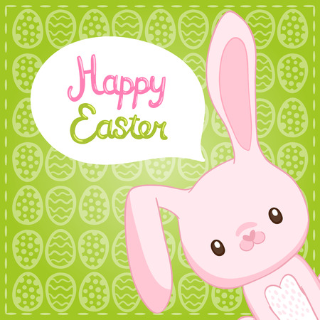 easter background: Happy Easter background with cartoon cute bunny