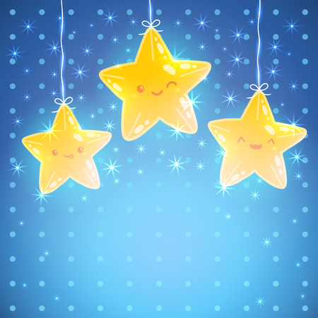 Cute Star background. Good night vector illustration Vector
