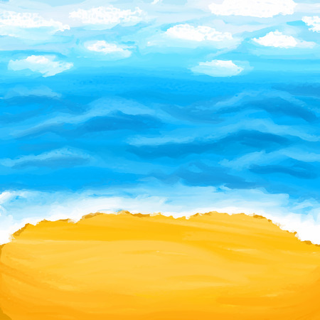 Beach, sea, sand. Summer abstract sea background.