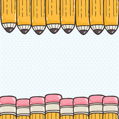 Cute Back to school background Vector