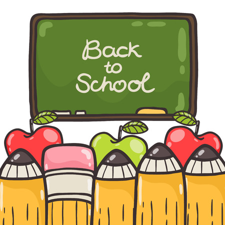Cute Back to school background