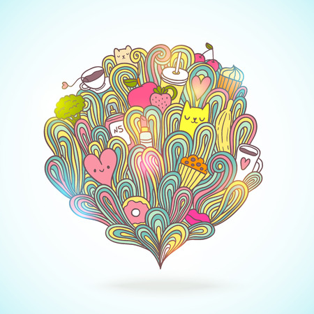 abstract illustration about girl dreams and wishes Illustration