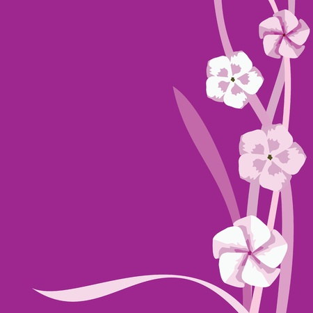 Vector abstract floral print on a purple background Vector