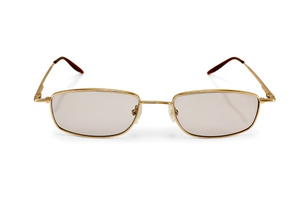 Eyeglasses with tinted glasses isolated on white background Stock Photo - 16164942