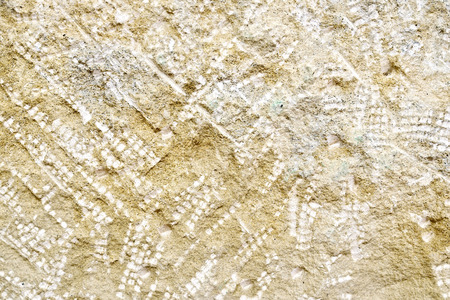 Sandstone with traces of chisels