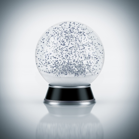 bolas de nieve: Globo de la nieve sobre fondo blanco