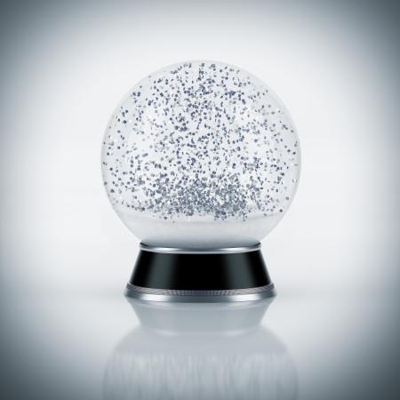 boule de neige: Snow globe sur fond blanc